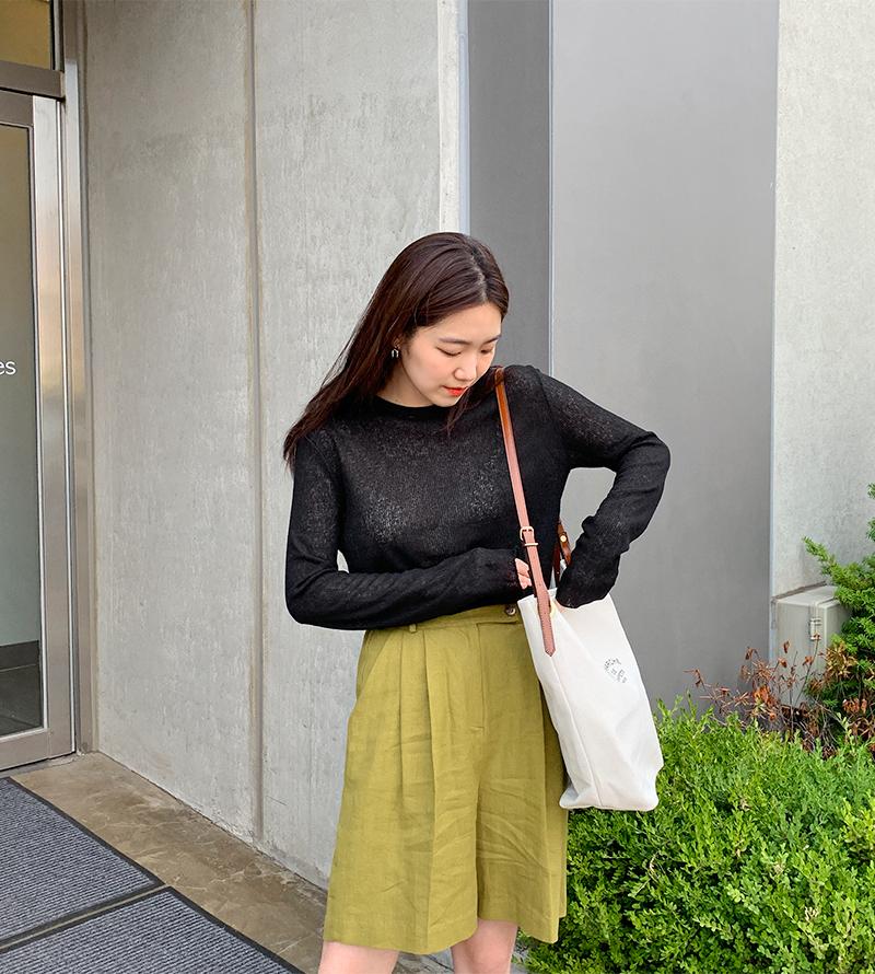 Lettering canvas shoulder bag_A