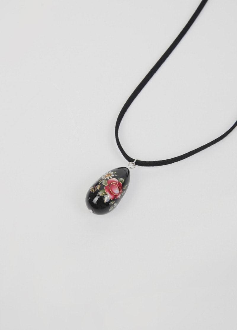 flower drop necklace