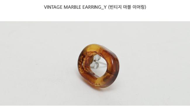 Vintage marble earring_Y