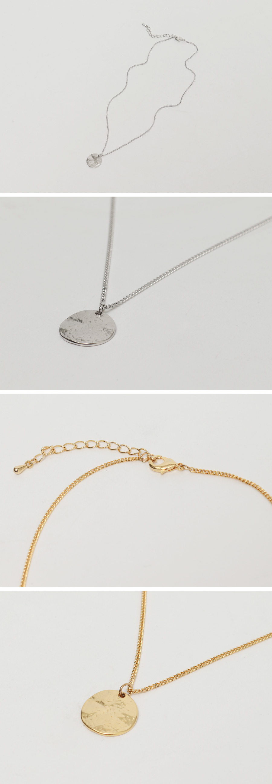 Crumple circle necklace_C