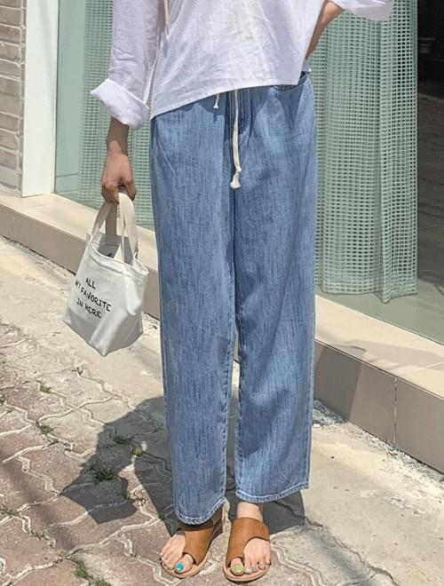 String Wide Pants _H