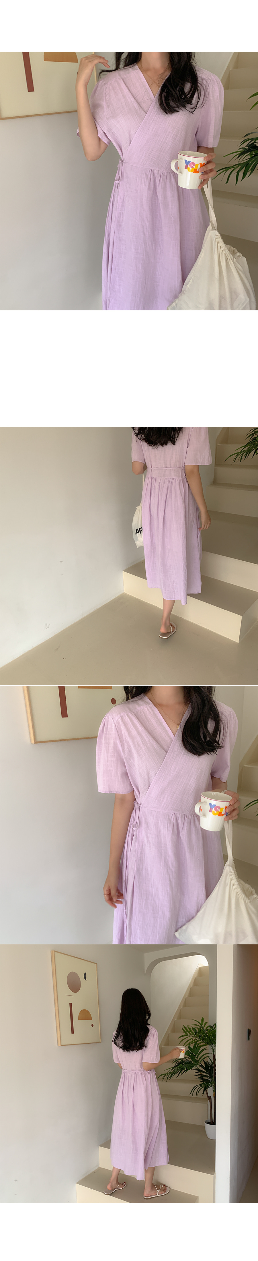 Jeev Linnen Wrap Dress