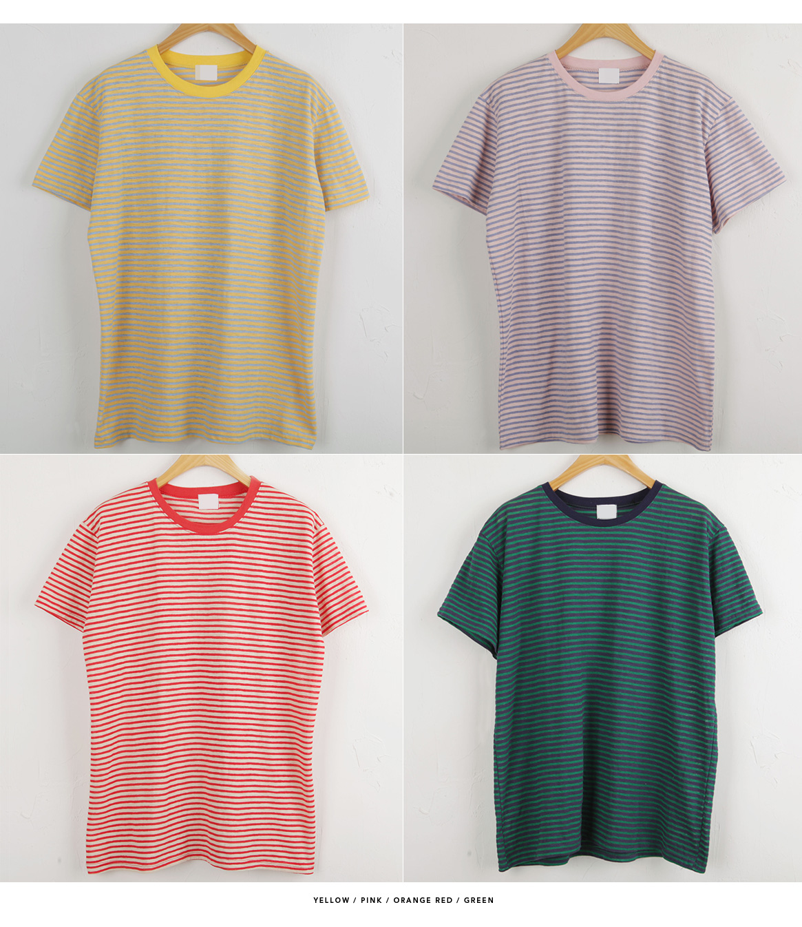 Good material and pretty fit !! Steady love striped tee