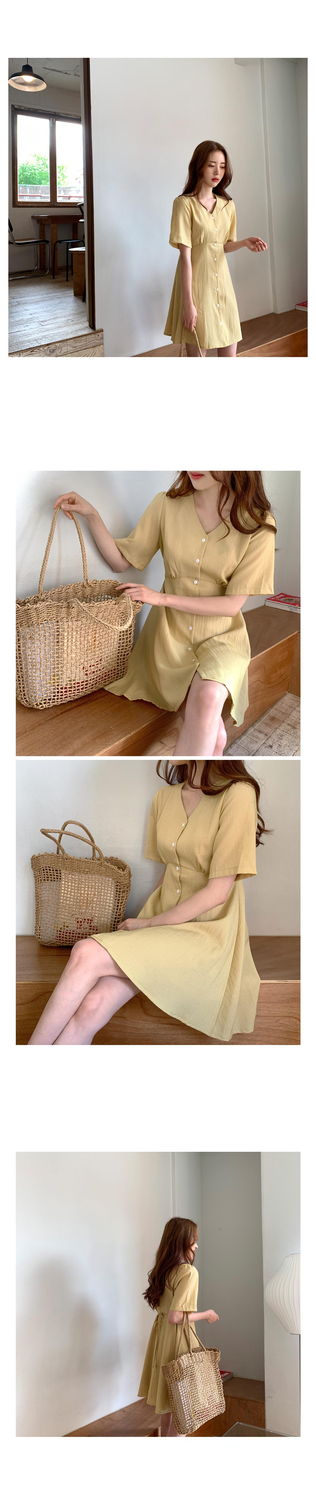 Check button mini dress