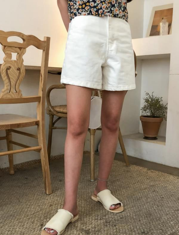 2 color basic cotton shorts