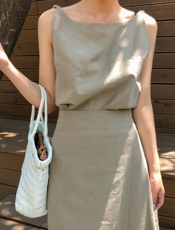 neat linen sleeveless