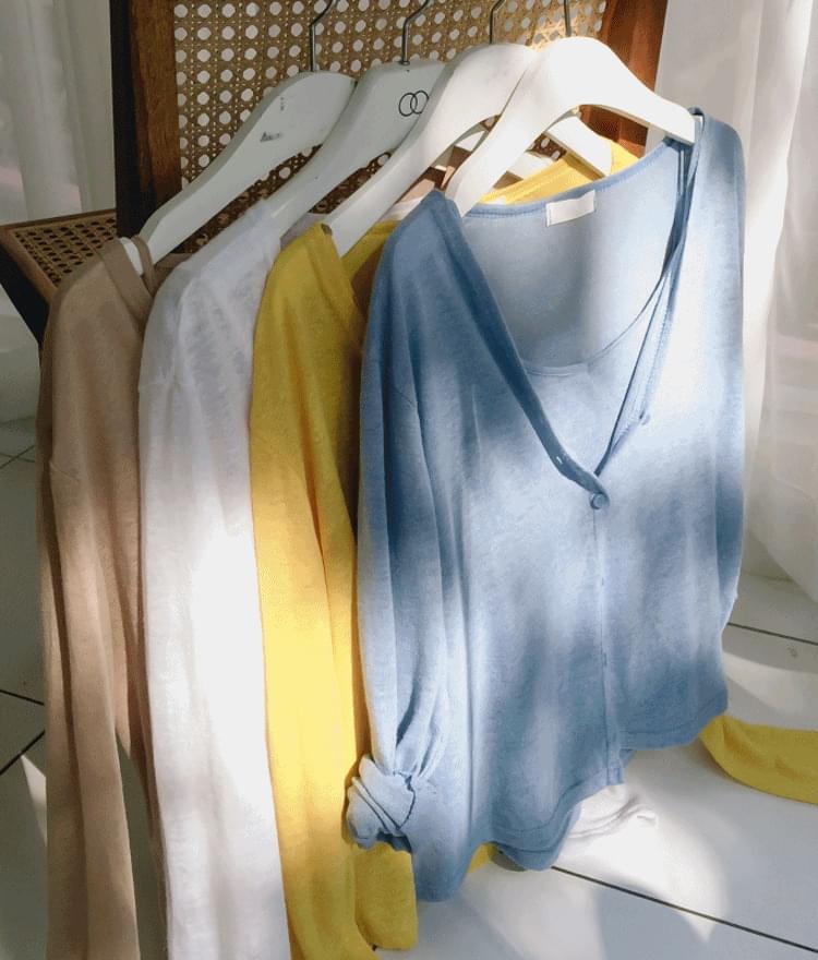 Linen pastel cardigan set