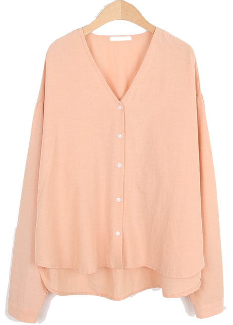Peach v neck blouse