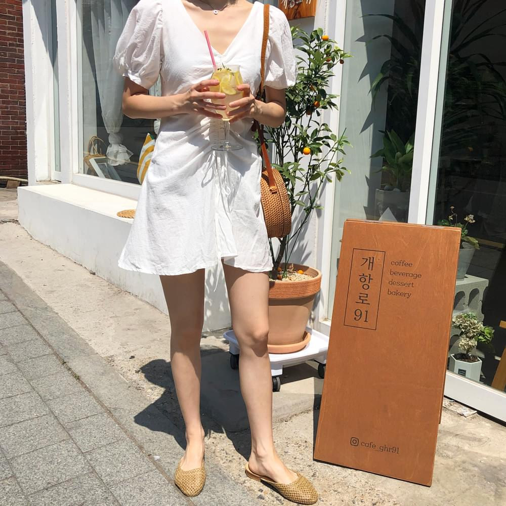 Plain shearing dress