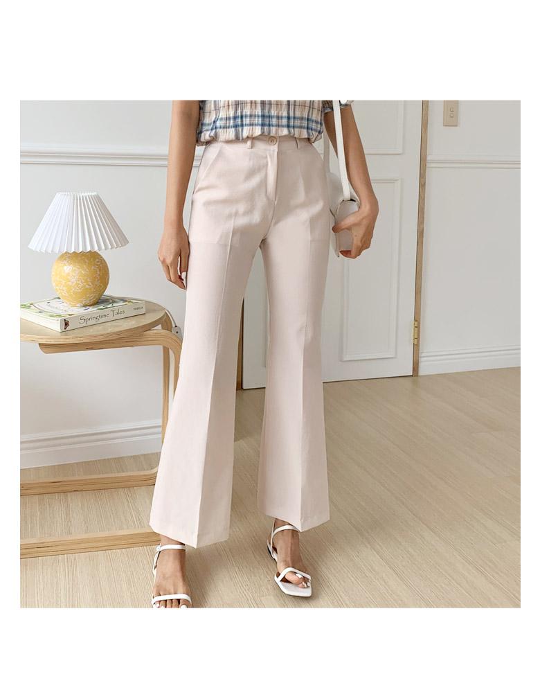 Calle linen checked blouse