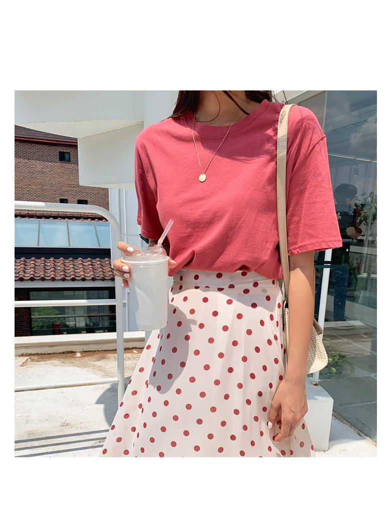 Lovin dot flared skirt