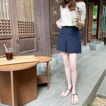 Mild Linen Short Pants