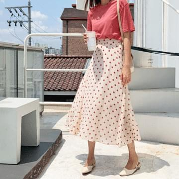 Lovin dot flared skirt