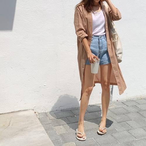 Coin and Linen Long Jacket