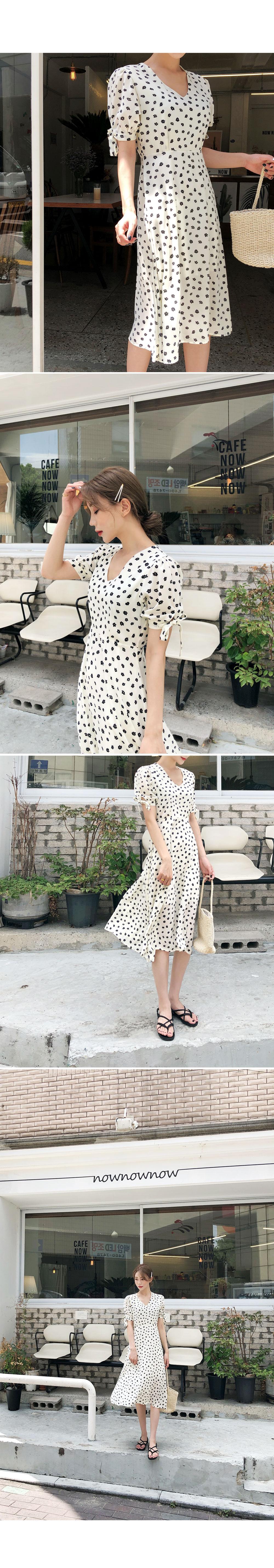 Modern Color Flower Dress