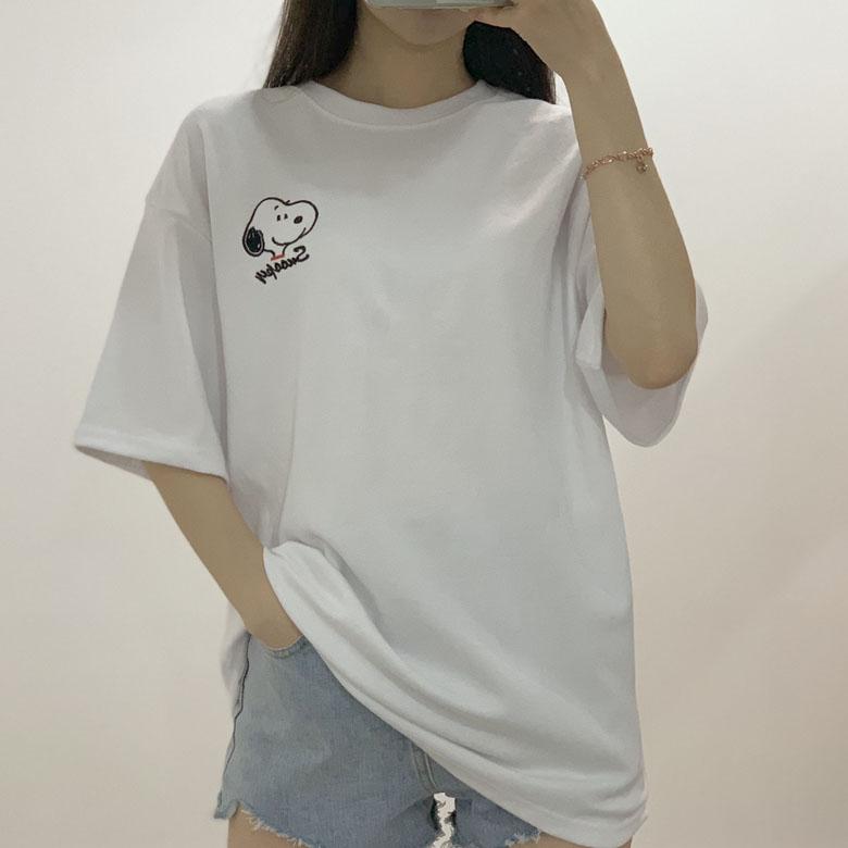 Hello Snoopy Round Box Pit Short Sleeve Tee