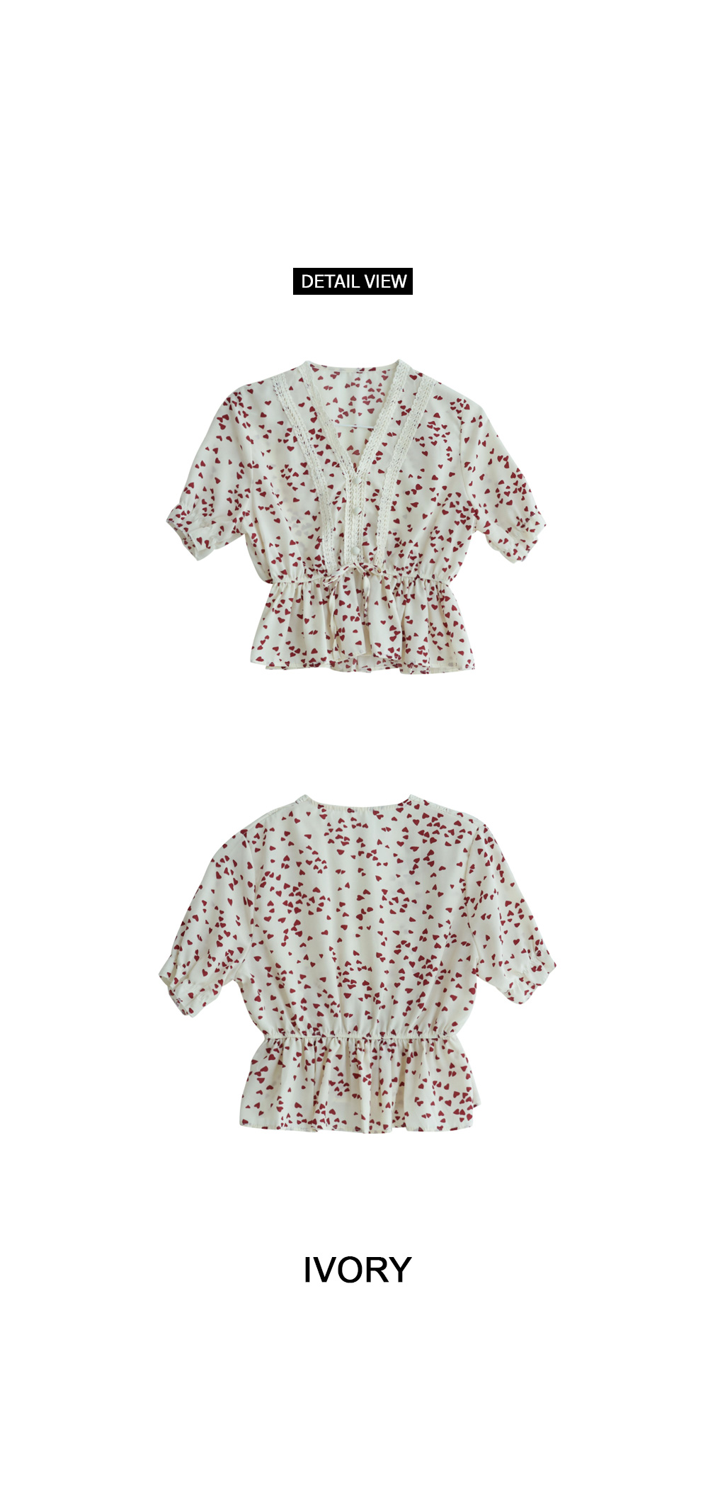 Point lace blouse