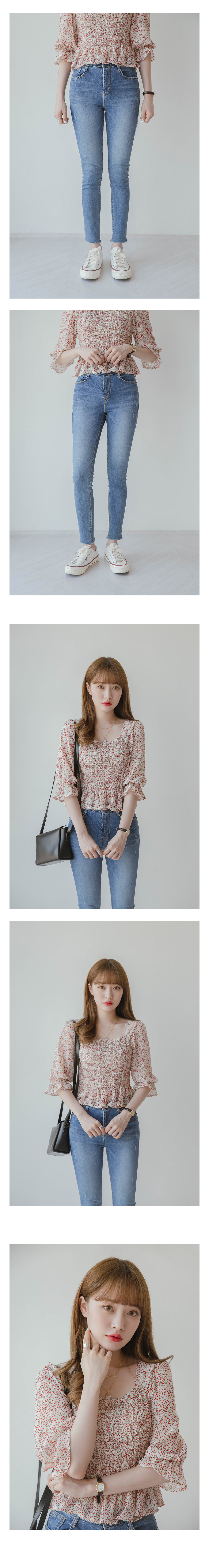 News mock frill blouse