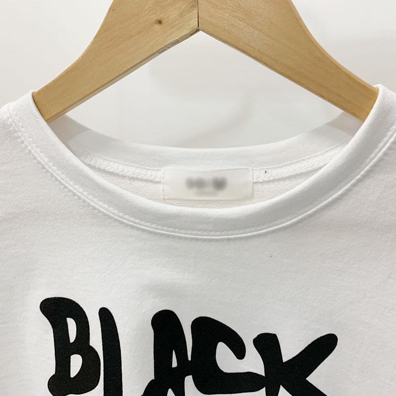 Black Round Crop Short Sleeve Tee