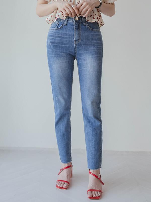 Basic slim-fit denim pants