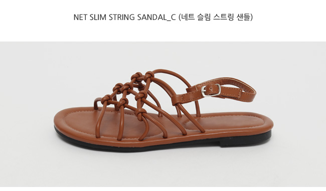Net slim string sandal_C