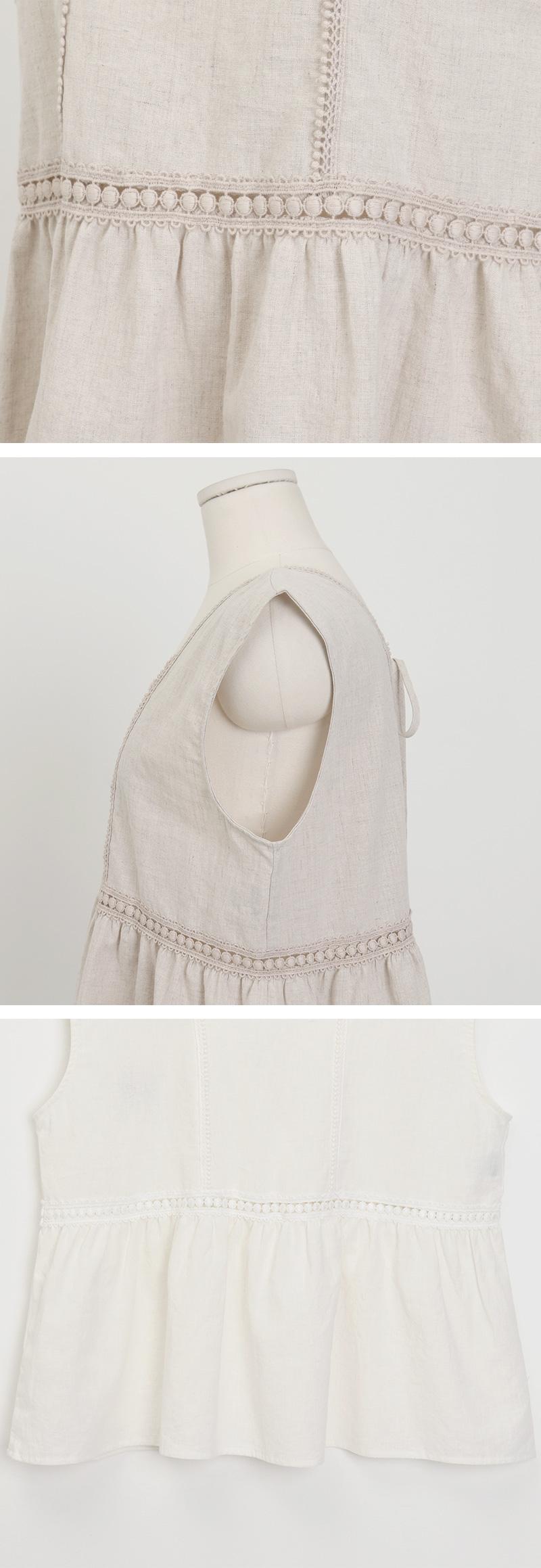Blind linen sleeveless_C (size : free)
