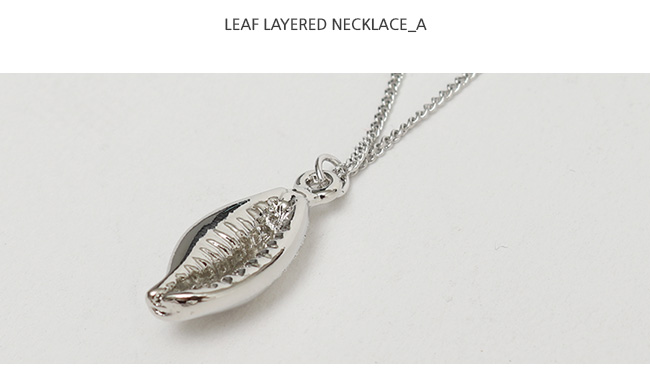 Leaf layered necklace_A