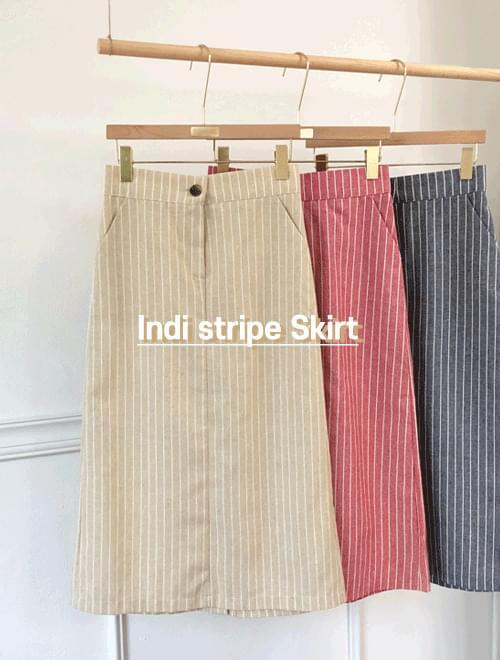 Indy stripe skirt _Y