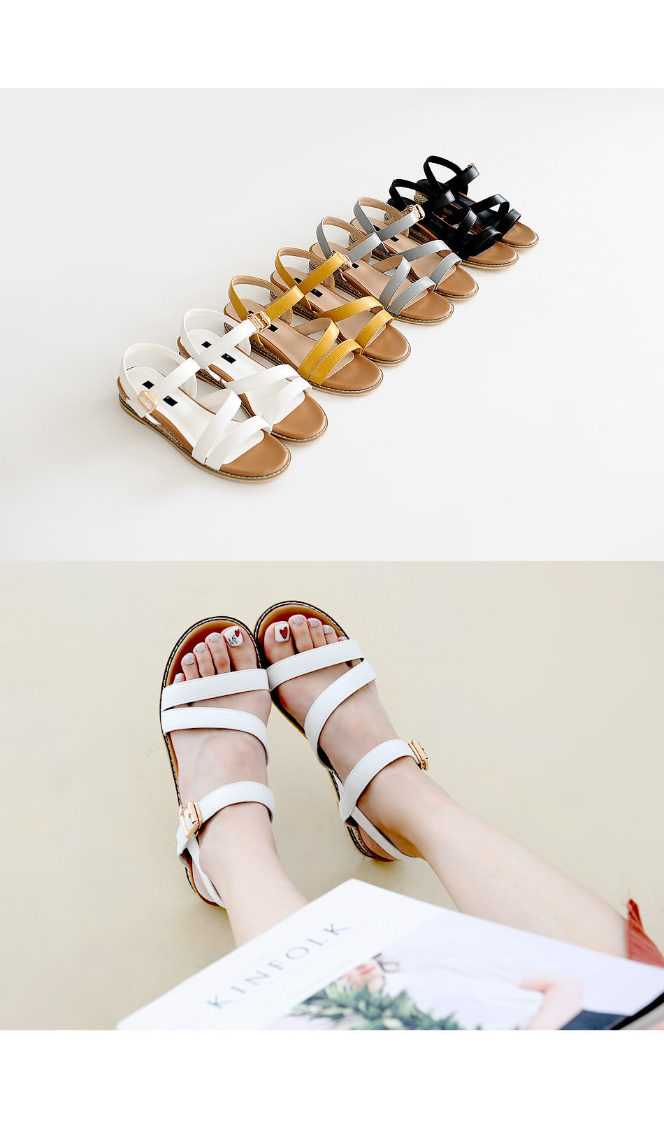 Derien Wedge Slingback Sandals 3cm