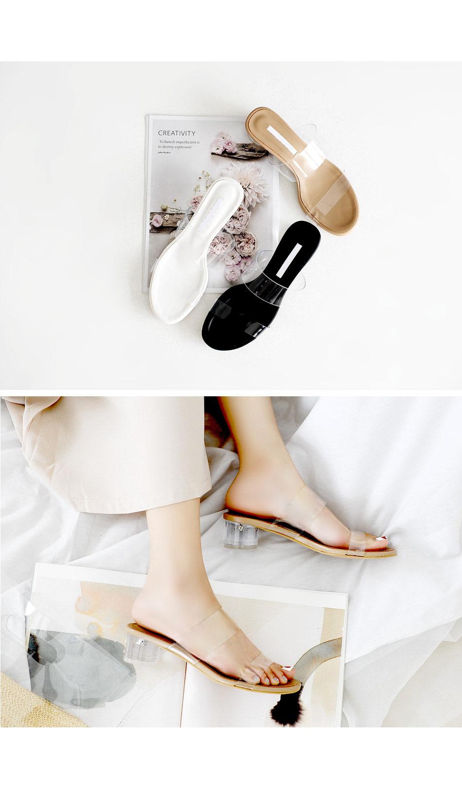 Brodin PVC Mule Slippers 4cm