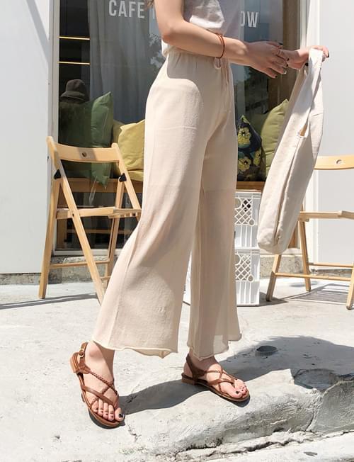 Wide knit pants