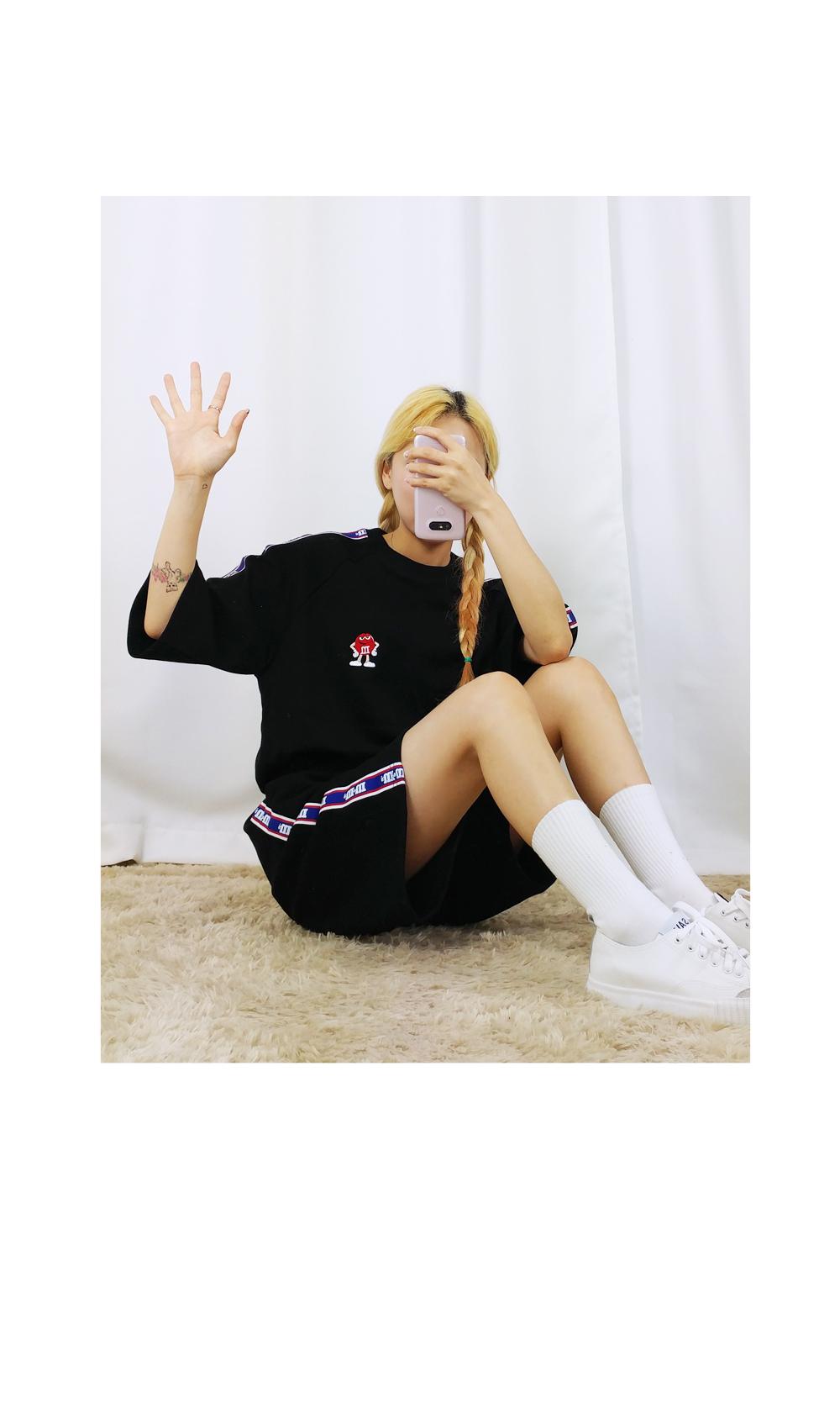 M & M M & M round short sleeve SET ♥ unisex ♥