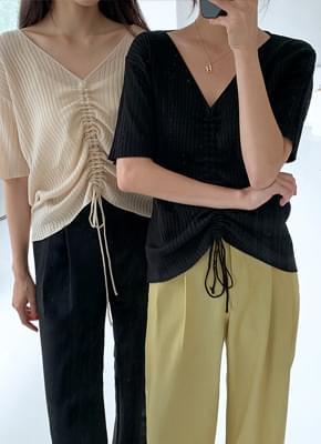 Goliath Shirring Short sleeve knit