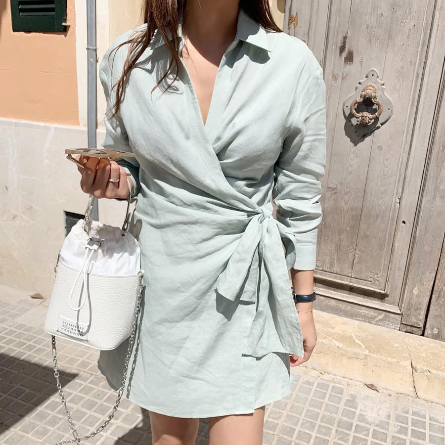Shirt Wrap Dress