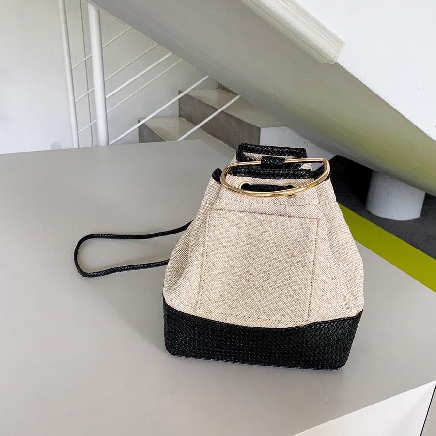 Rattan linen bag