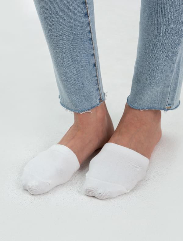 simple half fake socks