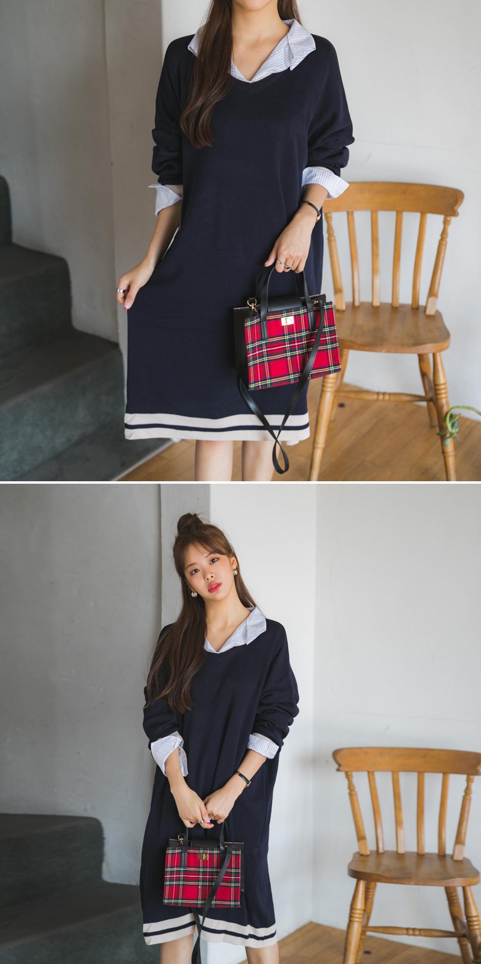 Berry Color Knit Dress