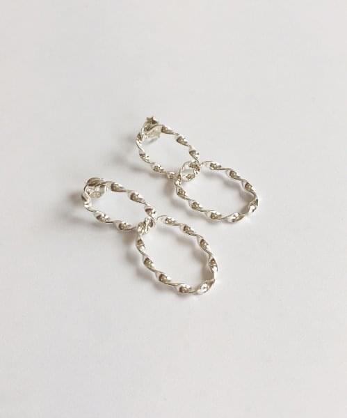 (silver925) whirlwind earring