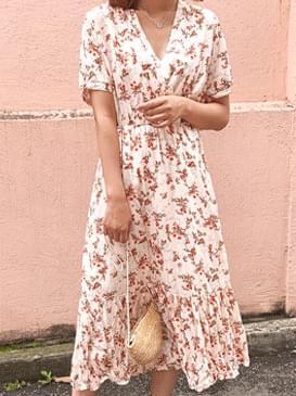 Lena Flower Long Dress
