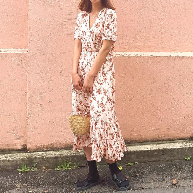 Lena Flower Long Dress