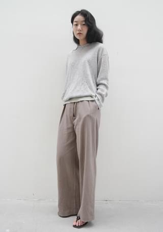 diagonal line pintuck pants