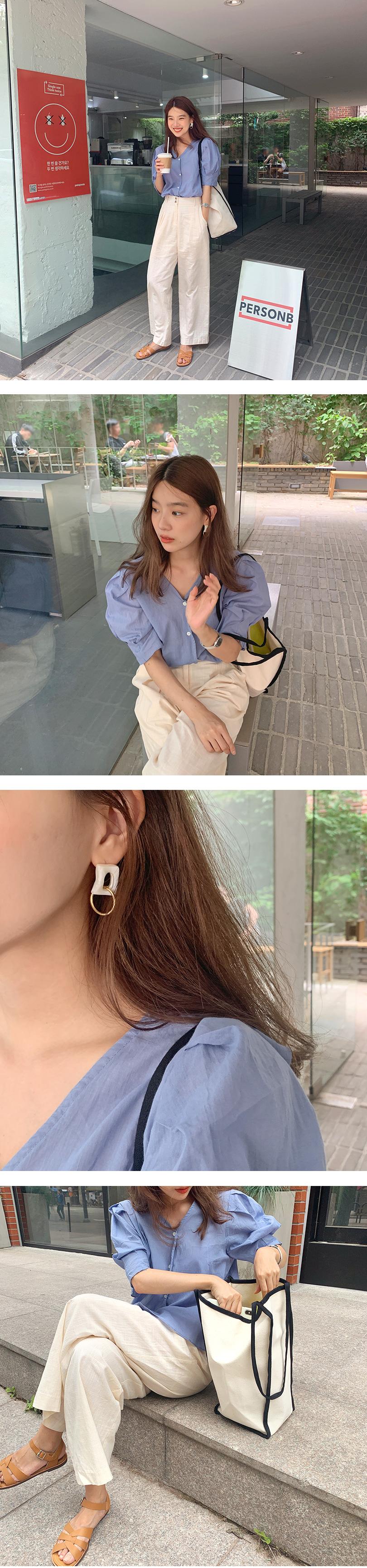 Cross cellulose earring_Y