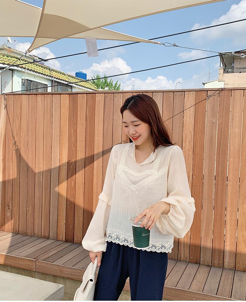Frame cotton lace blouse_A