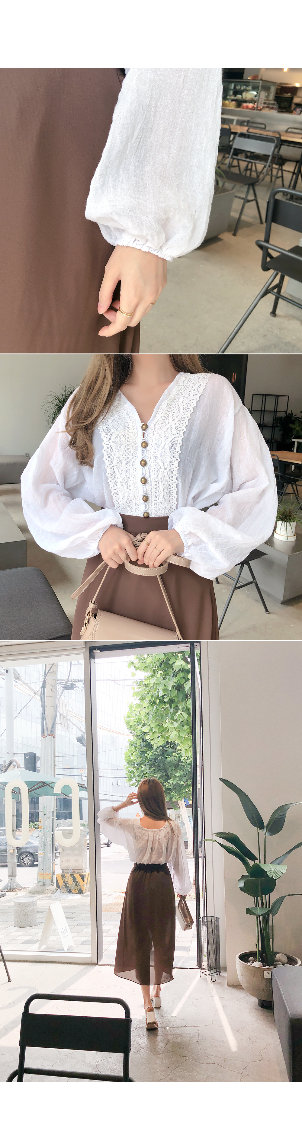 Fashionable mood lace blouse
