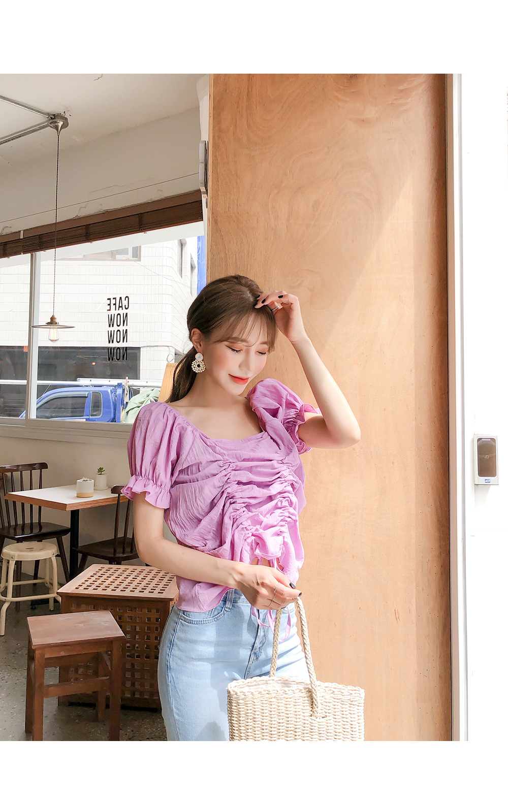 Love-filled shearing blouse