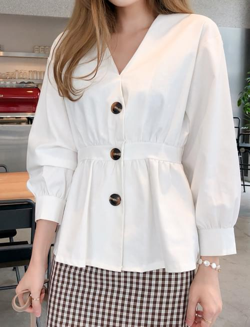Tidy mood button blouse
