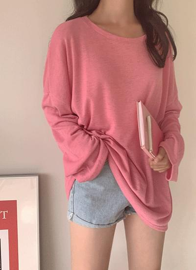 Metabakushi Linen Long Sleeve Tee