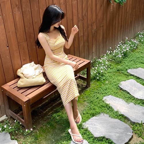 Loving You Check Nashi Dress