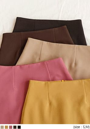 5 COLOR HAILIN SPAN MINI SKIRT