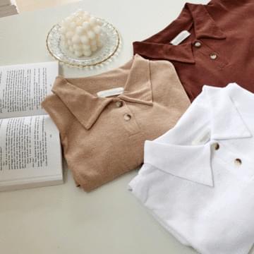 Maison linen collar neck shirt